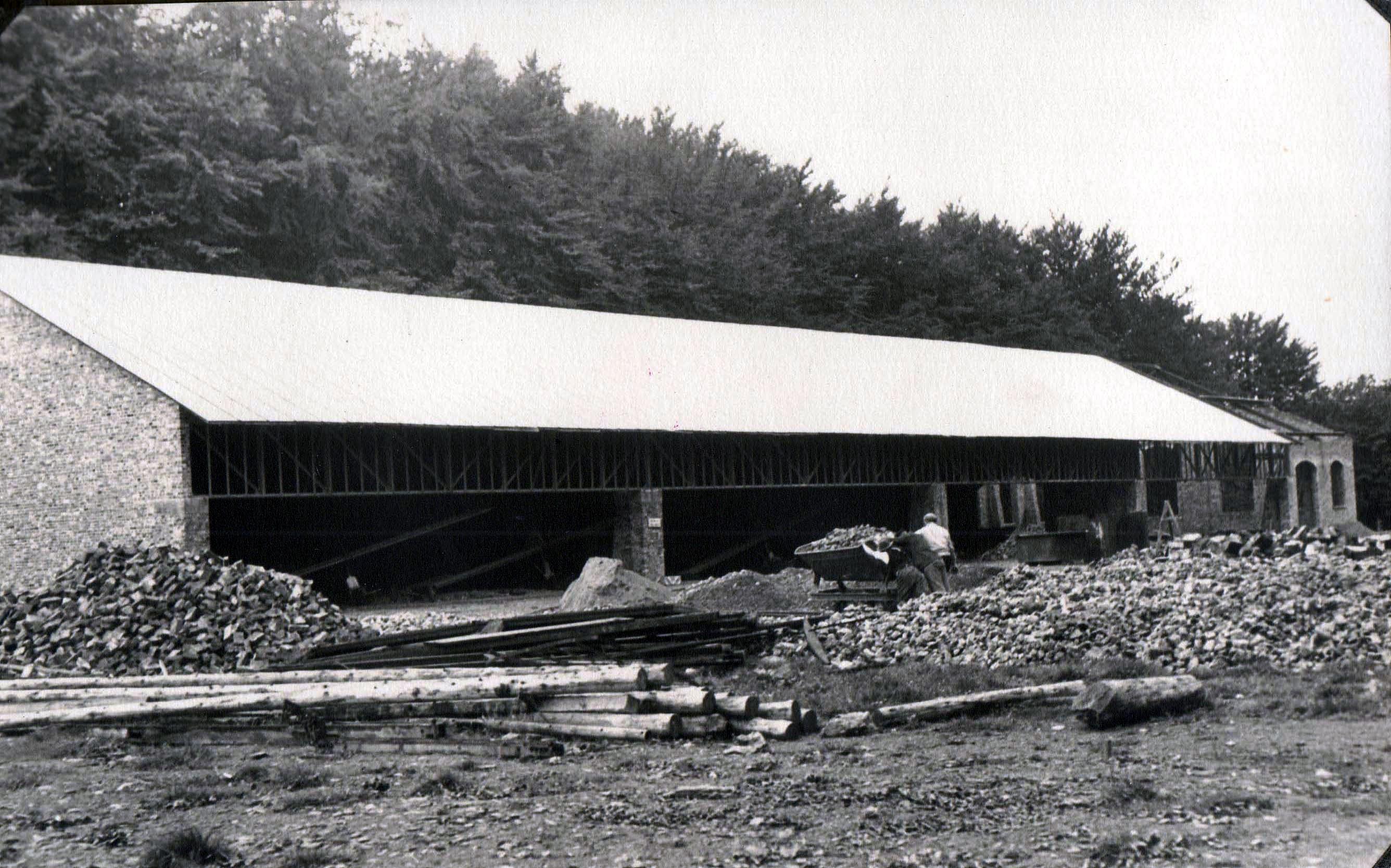 Bau der Halle
