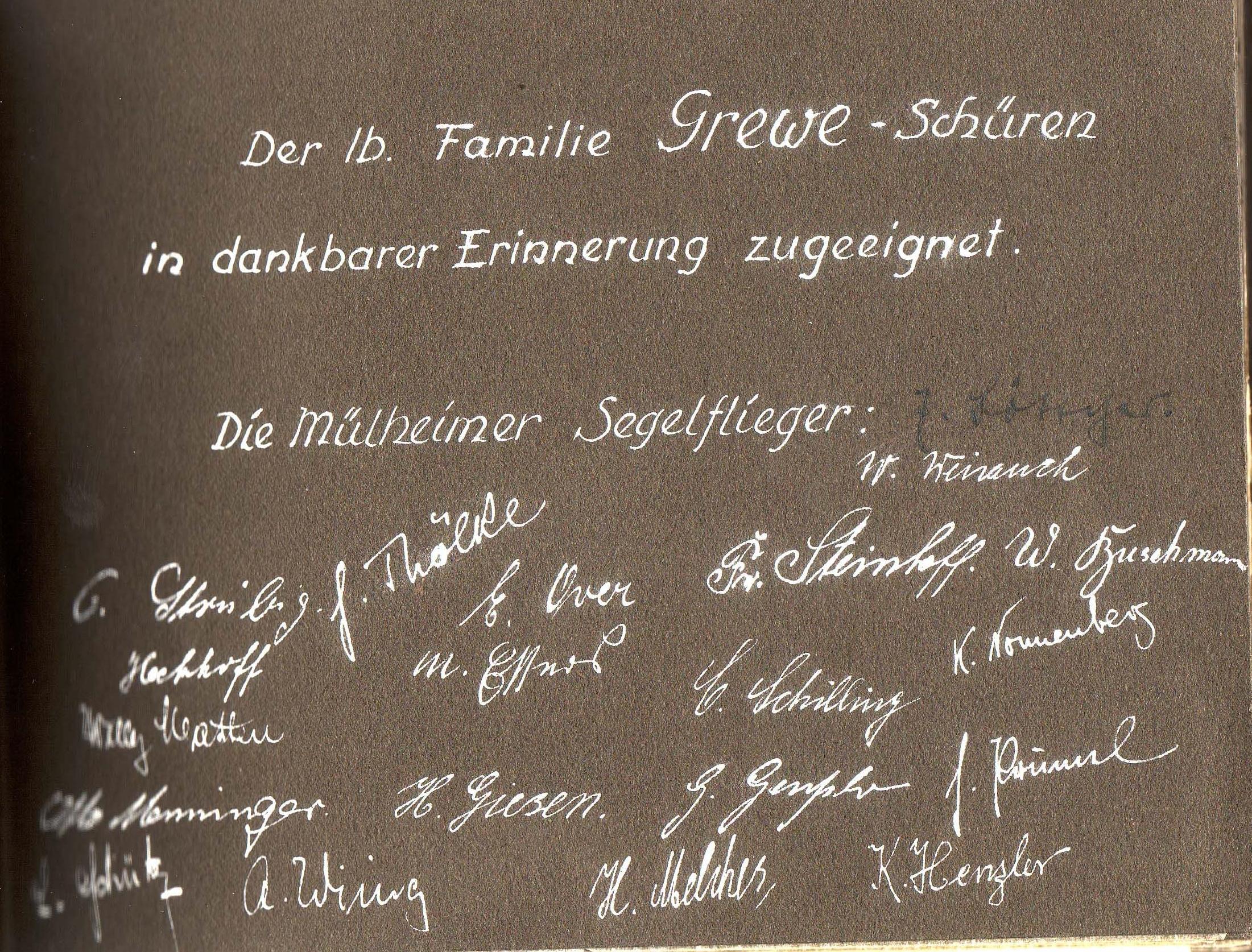 Die Mülheimer danken Familie Grewe